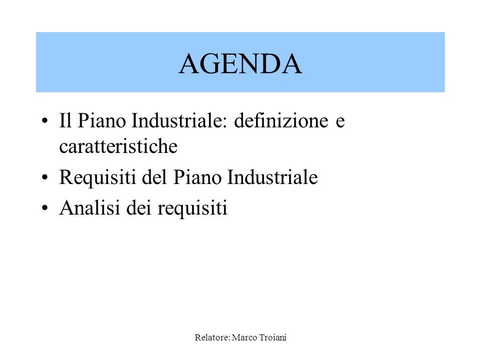 Relatore: Marco Troiani