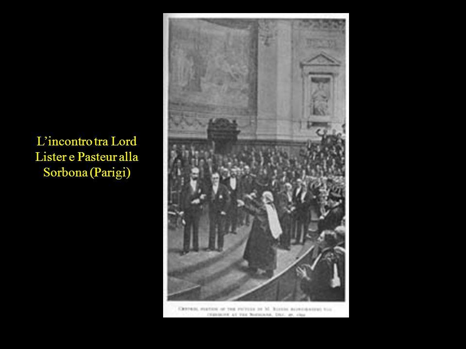 L'incontro tra Lord Lister e Pasteur alla Sorbona (Parigi)