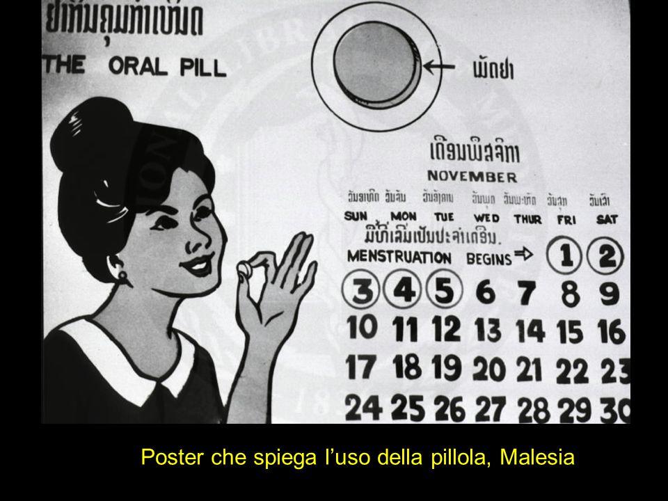 Poster che spiega l'uso della pillola, Malesia