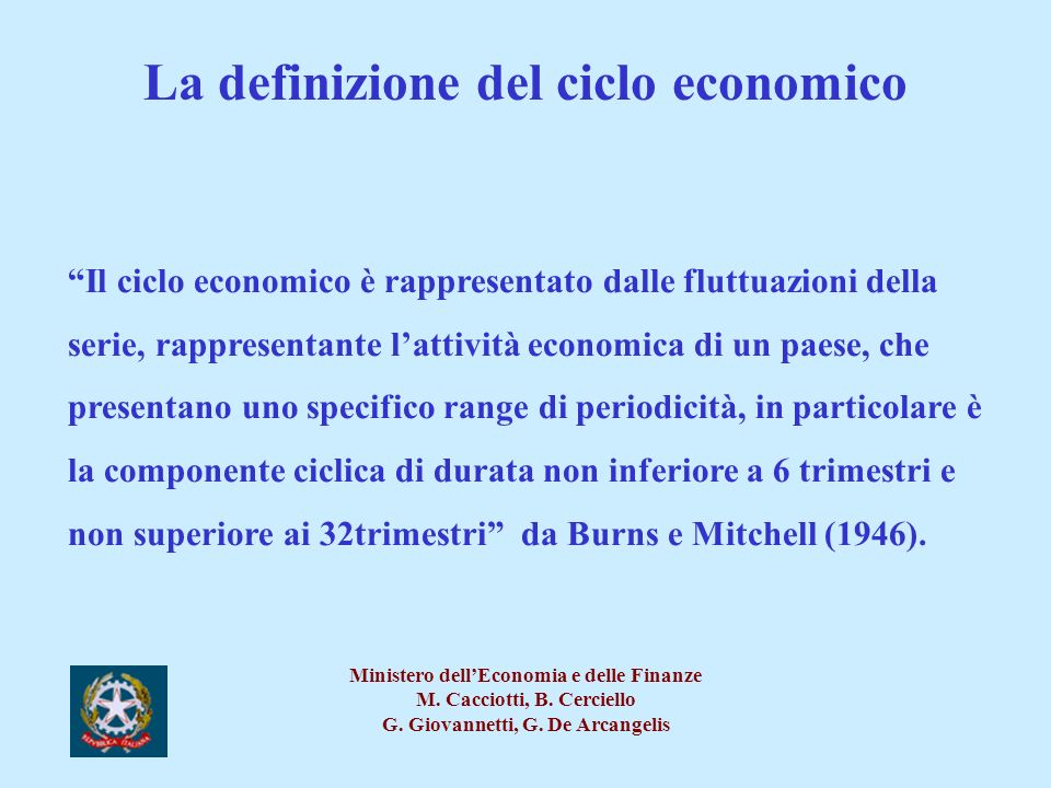 La definizione del ciclo economico
