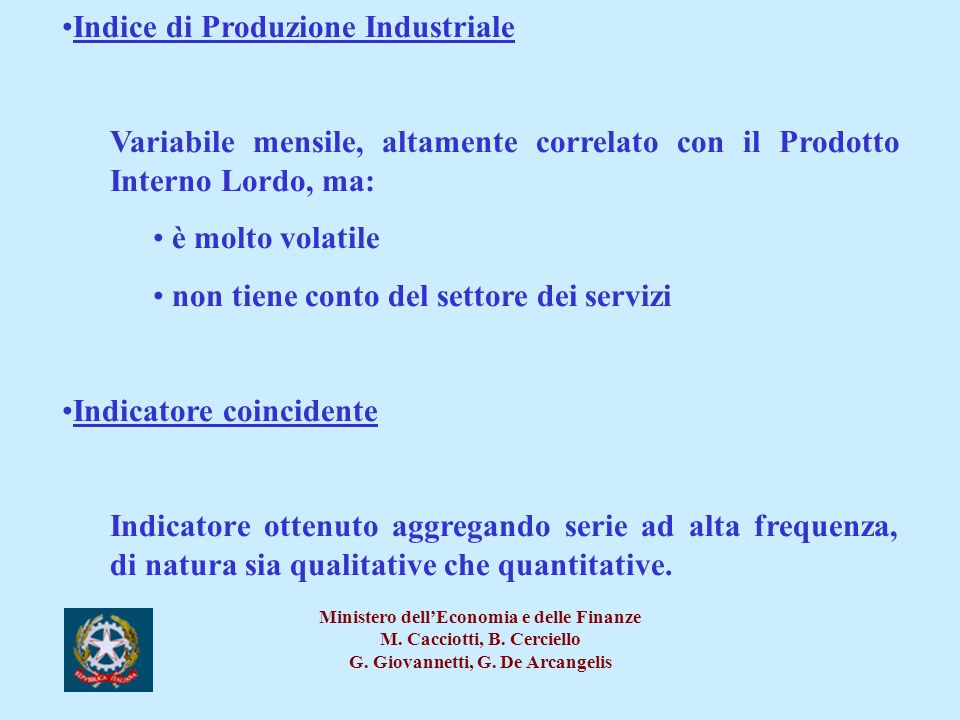 Indice di Produzione Industriale