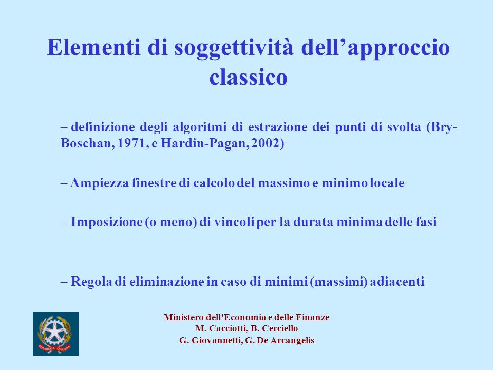 Elementi di soggettività dell'approccio classico