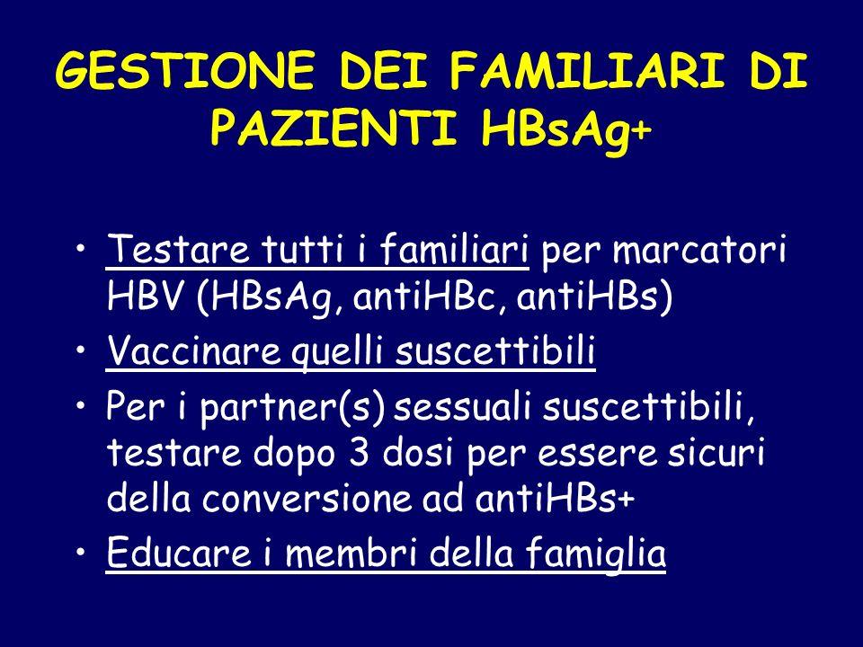 GESTIONE DEI FAMILIARI DI PAZIENTI HBsAg+