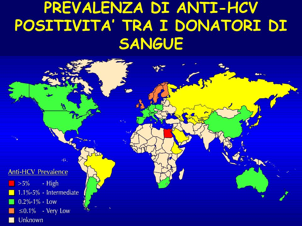PREVALENZA DI ANTI-HCV POSITIVITA' TRA I DONATORI DI SANGUE