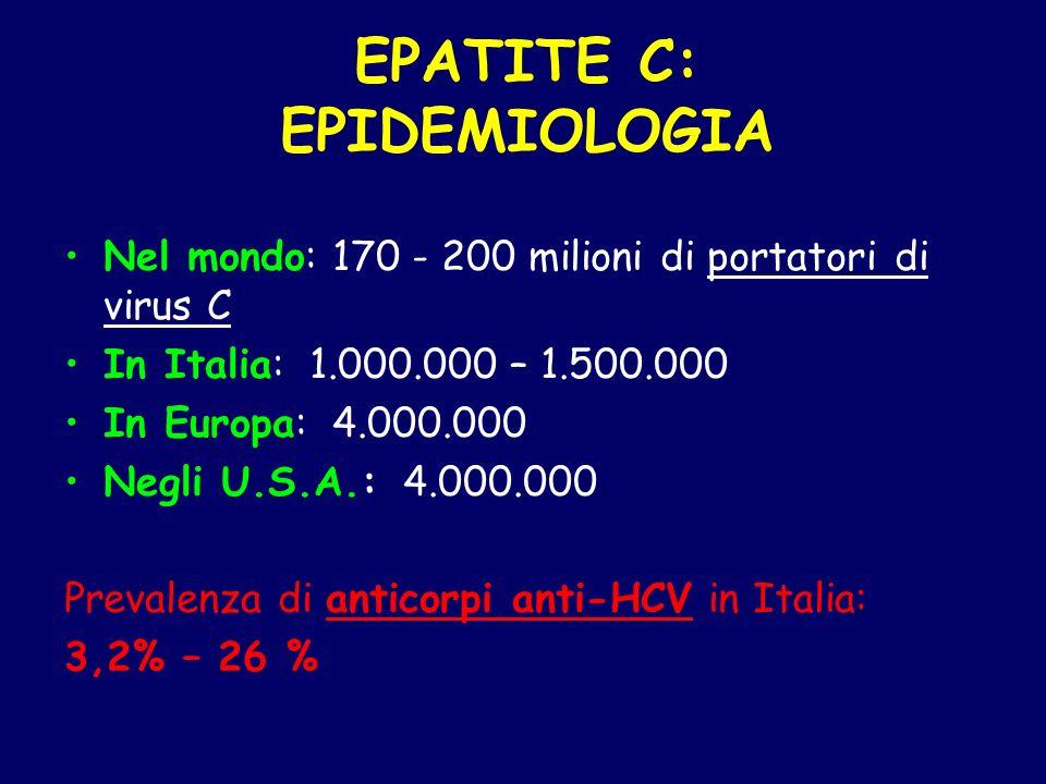 EPATITE C: EPIDEMIOLOGIA