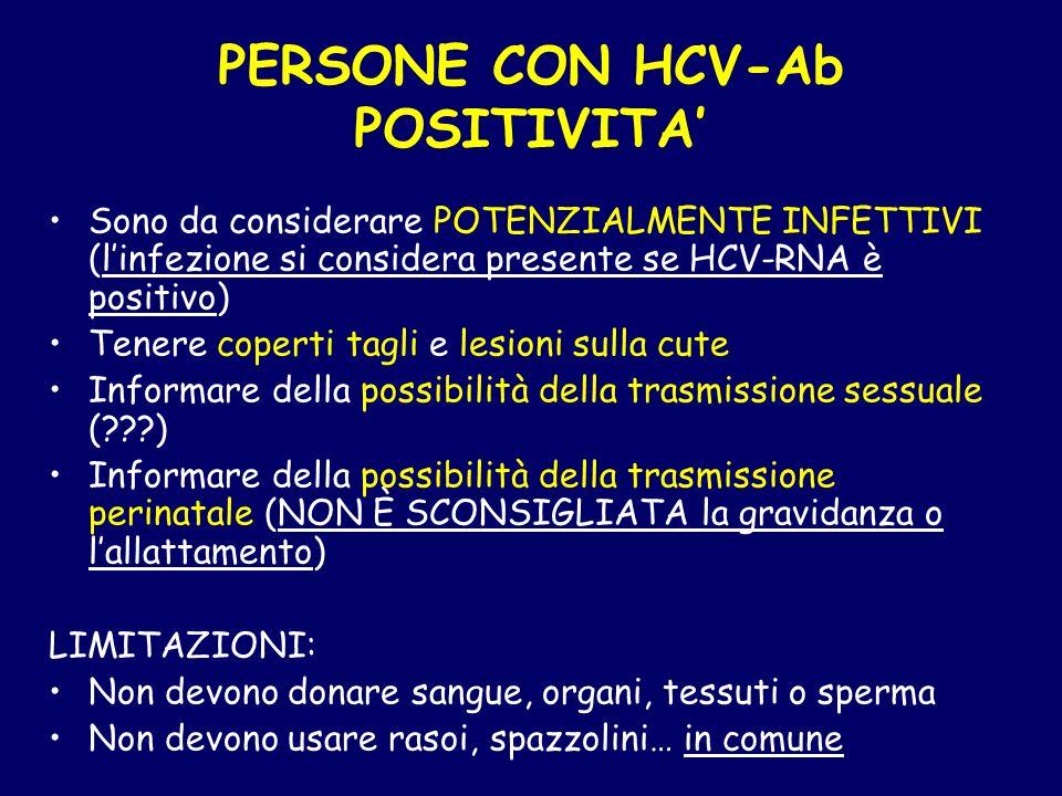 PERSONE CON HCV-Ab POSITIVITA'