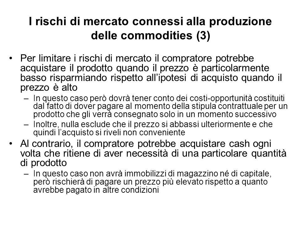 I rischi di mercato connessi alla produzione delle commodities (3)