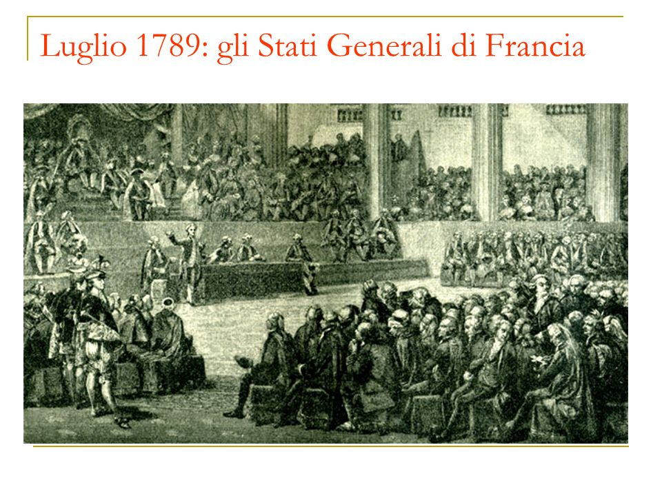 Luglio 1789: gli Stati Generali di Francia