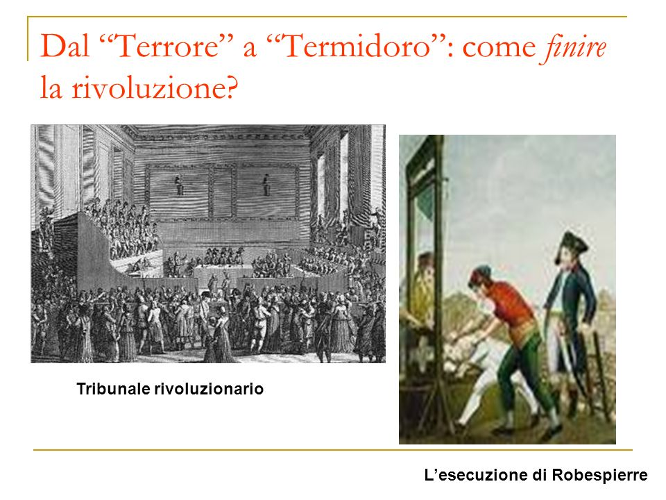 Dal Terrore a Termidoro : come finire la rivoluzione