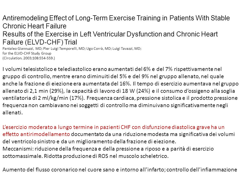 Antiremodeling Effect of Long-Term Exercise Training in Patients With Stable Chronic Heart Failure