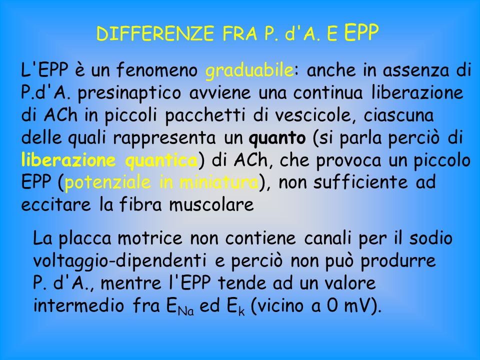 DIFFERENZE FRA P. d A. E EPP
