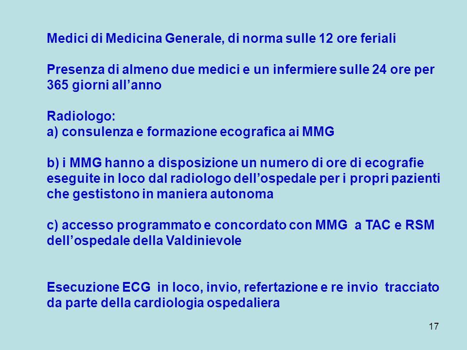 Medici di Medicina Generale, di norma sulle 12 ore feriali