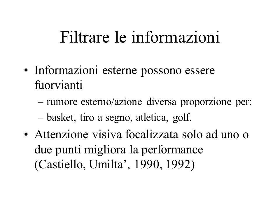Filtrare le informazioni