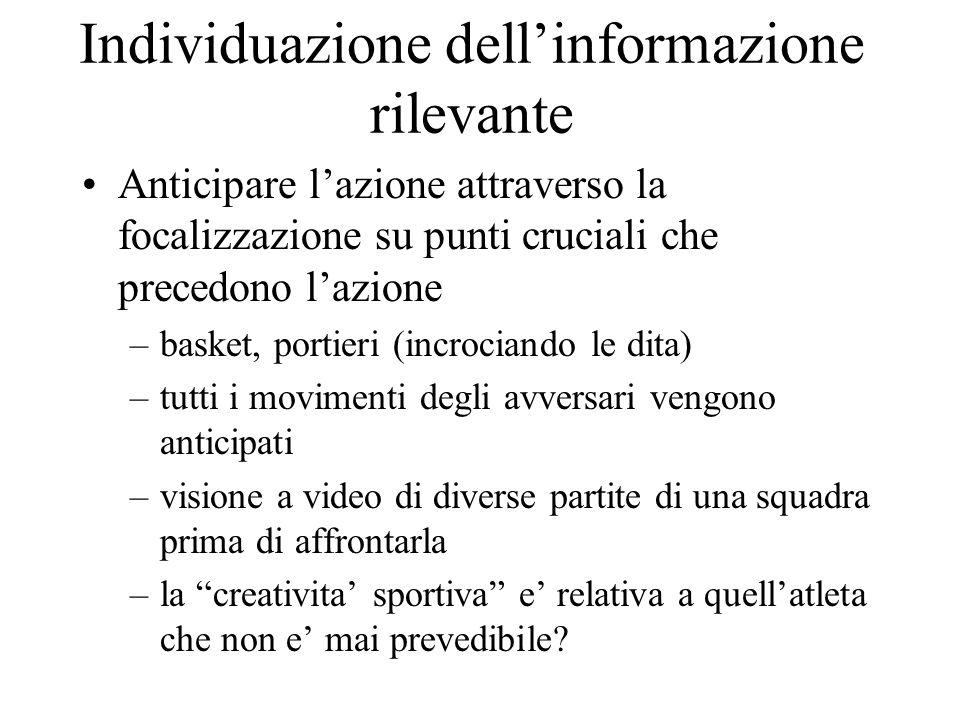 Individuazione dell'informazione rilevante