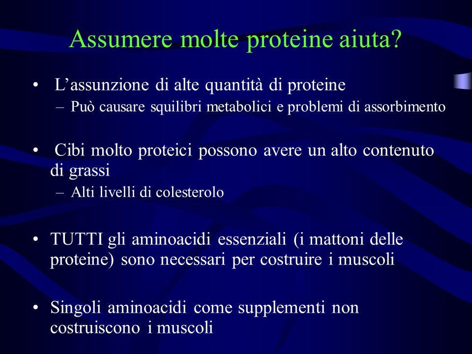 Assumere molte proteine aiuta