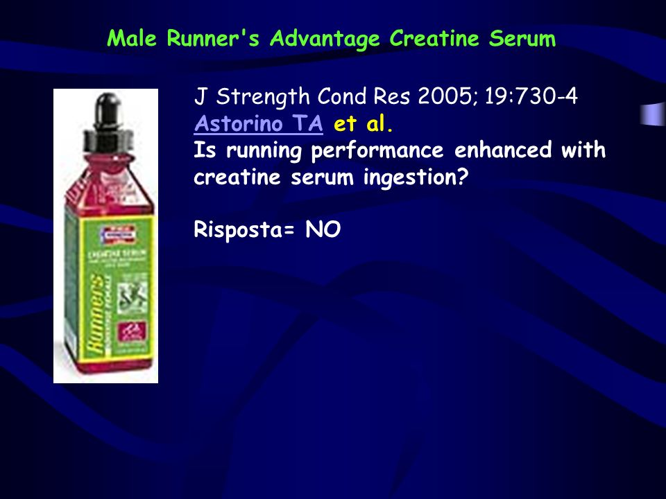 Male Runner s Advantage Creatine Serum