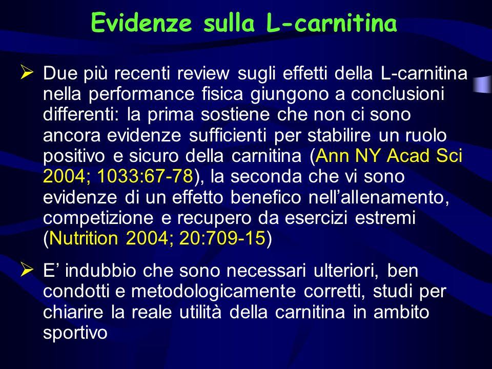 Evidenze sulla L-carnitina