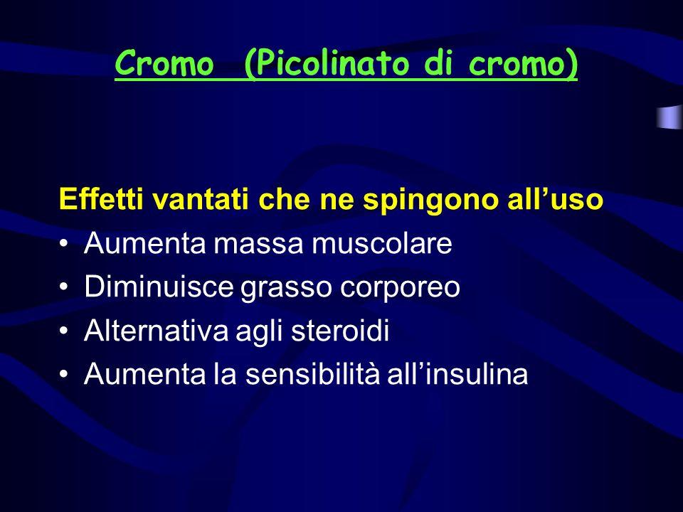 Cromo (Picolinato di cromo)