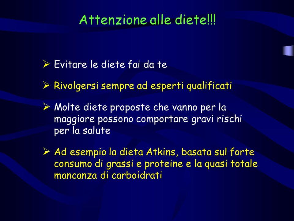 Attenzione alle diete!!! Evitare le diete fai da te