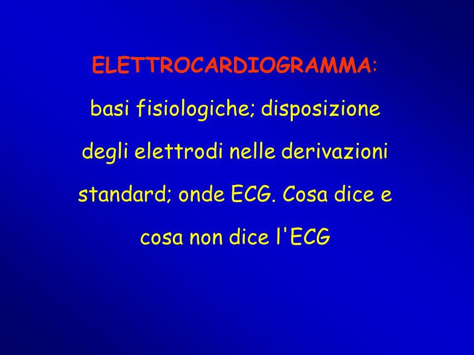 ELETTROCARDIOGRAMMA: basi fisiologiche; disposizione