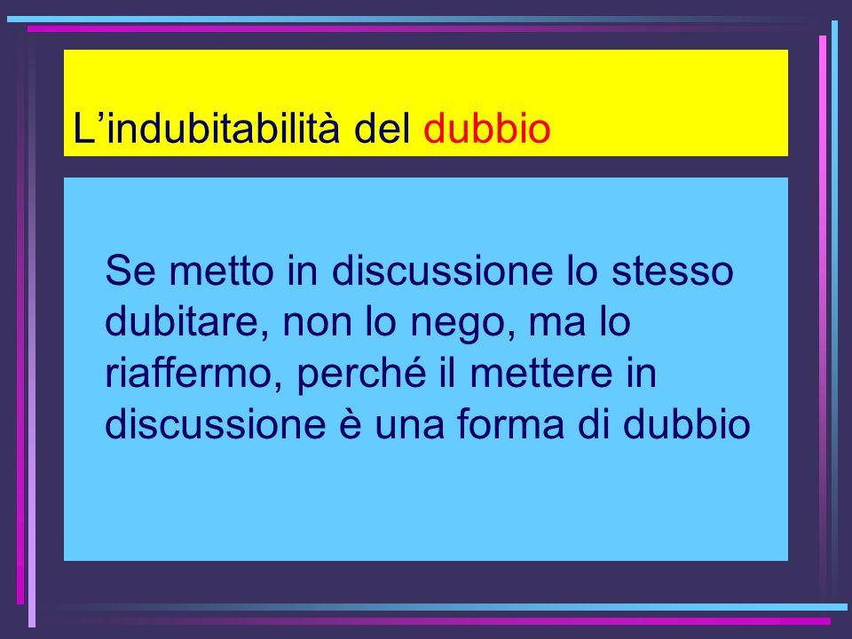L'indubitabilità del dubbio
