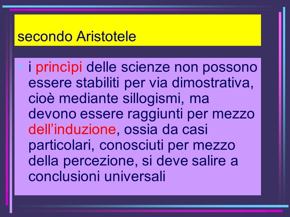 secondo Aristotele