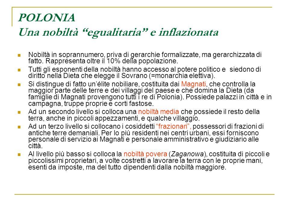 POLONIA Una nobiltà egualitaria e inflazionata