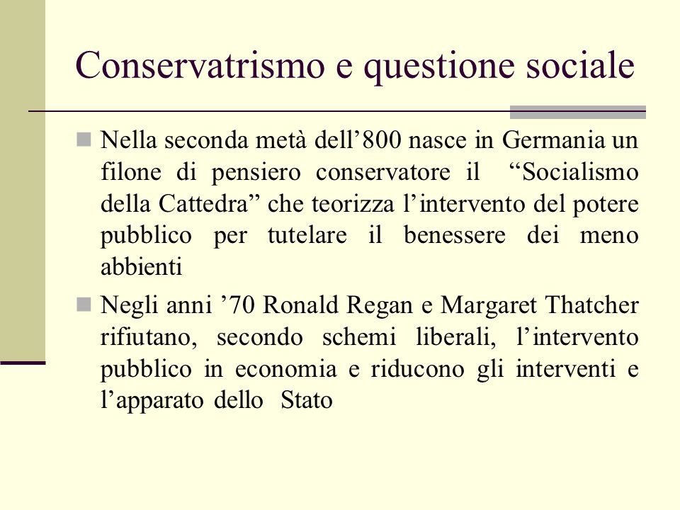 Conservatrismo e questione sociale