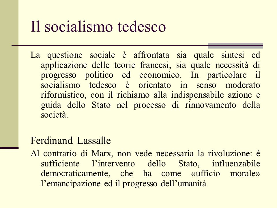 Il socialismo tedesco Ferdinand Lassalle