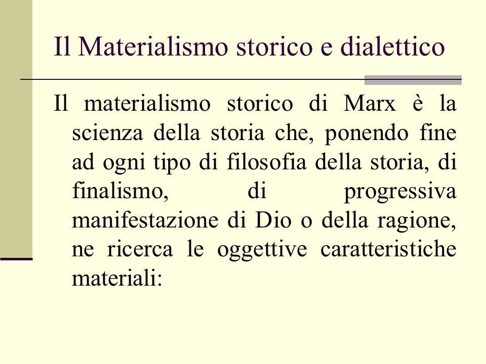 Il Materialismo storico e dialettico