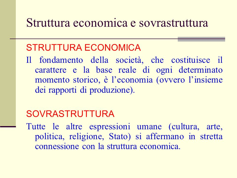 Struttura economica e sovrastruttura