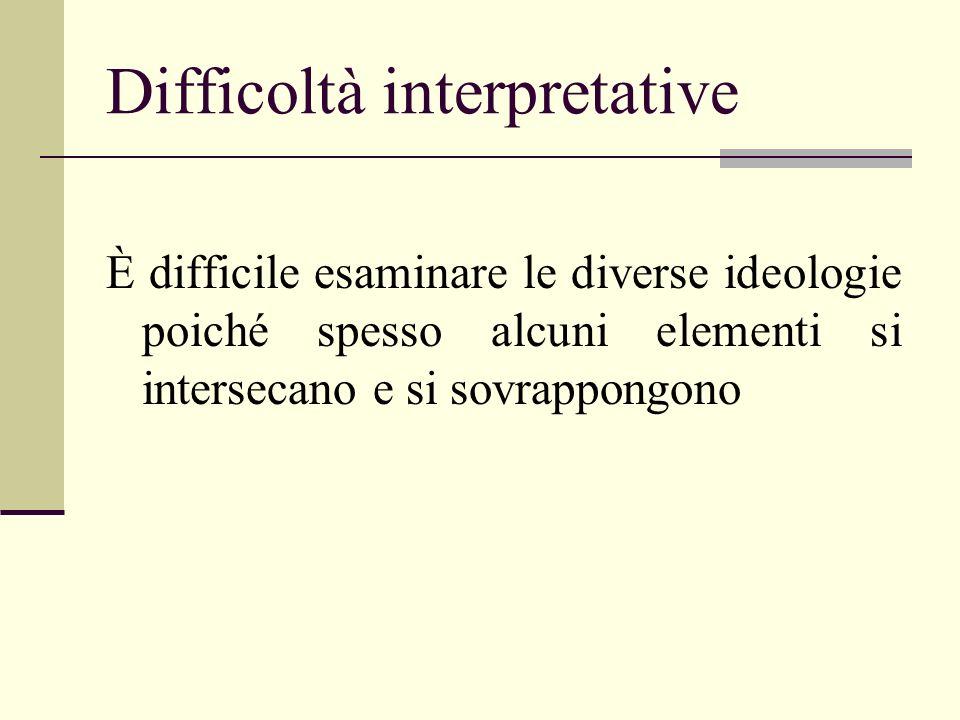 Difficoltà interpretative