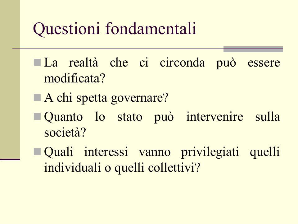 Questioni fondamentali