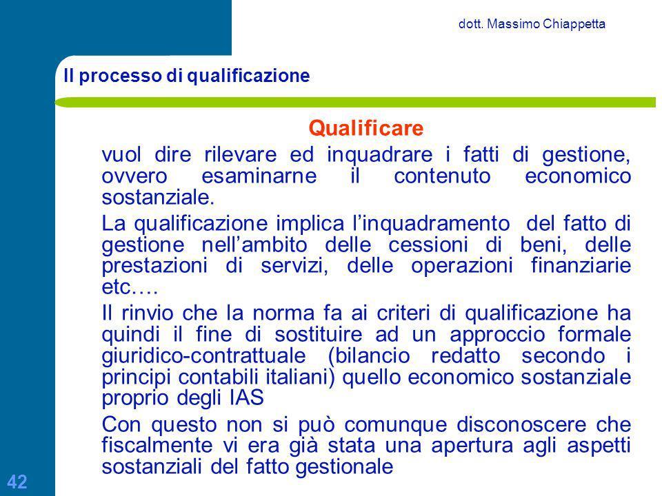 Il processo di qualificazione
