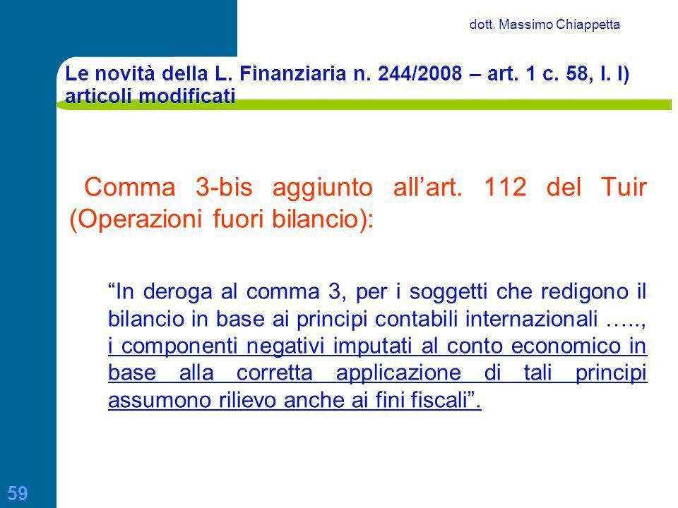Principi contabili internazionali ppt scaricare - Art 16 bis del tuir ...