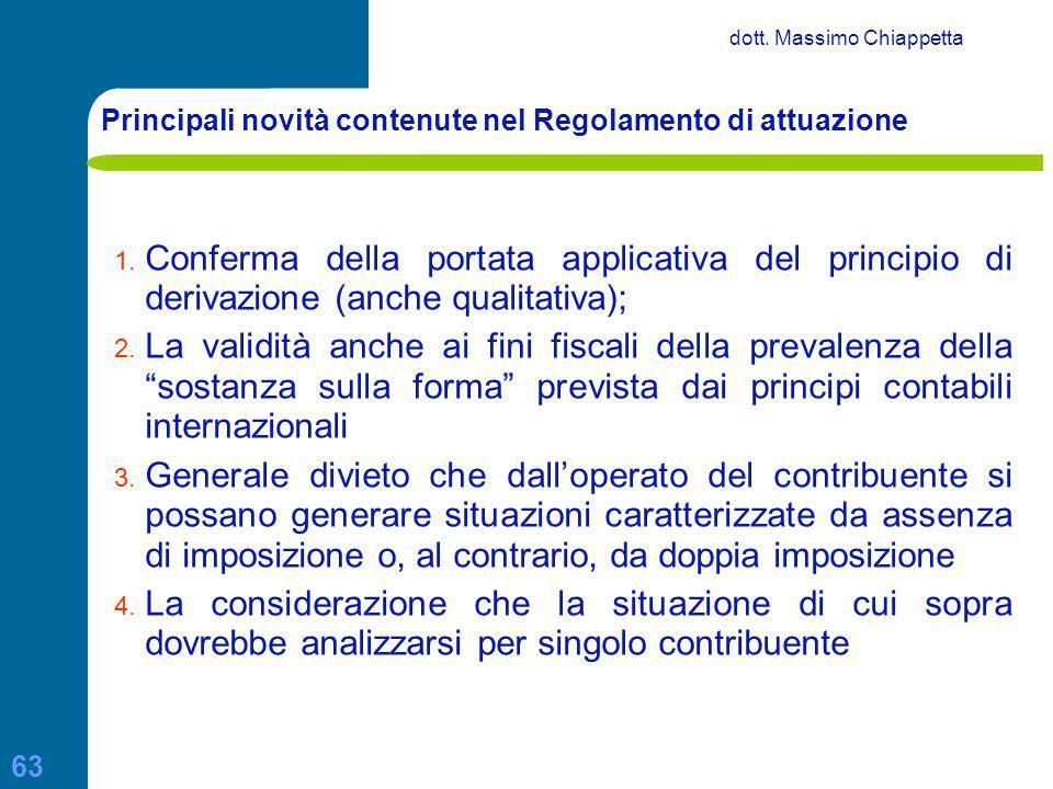 Principali novità contenute nel Regolamento di attuazione