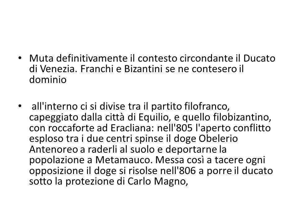 Muta definitivamente il contesto circondante il Ducato di Venezia