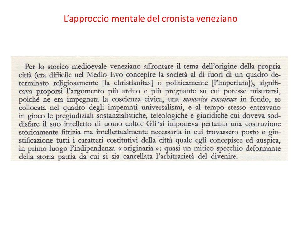 L'approccio mentale del cronista veneziano