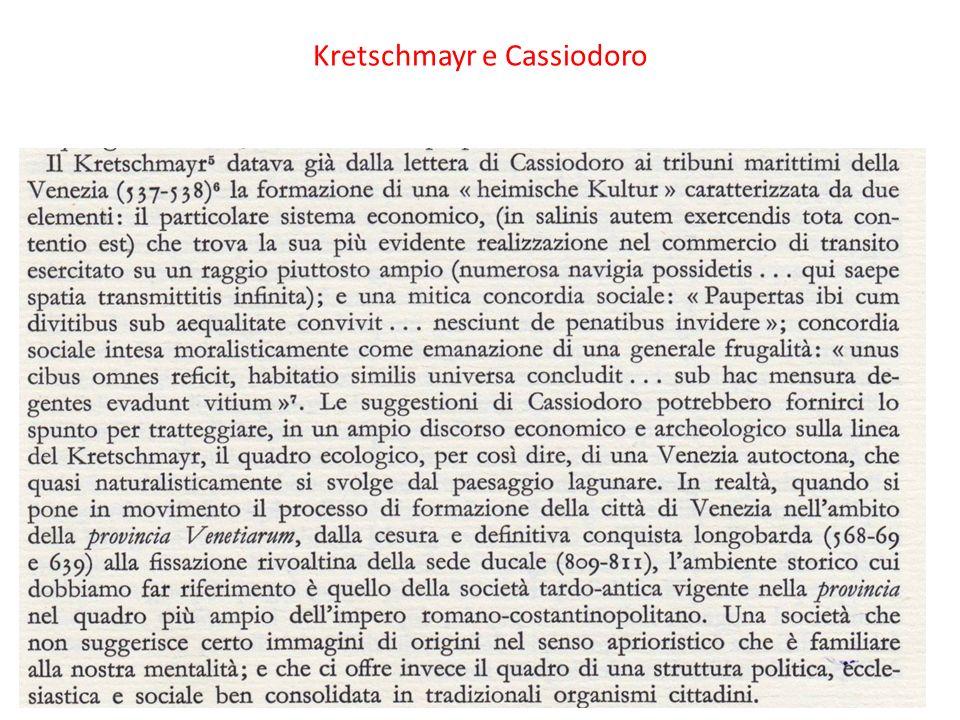 Kretschmayr e Cassiodoro