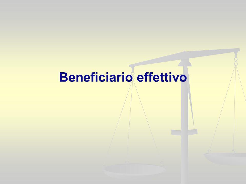 Beneficiario effettivo