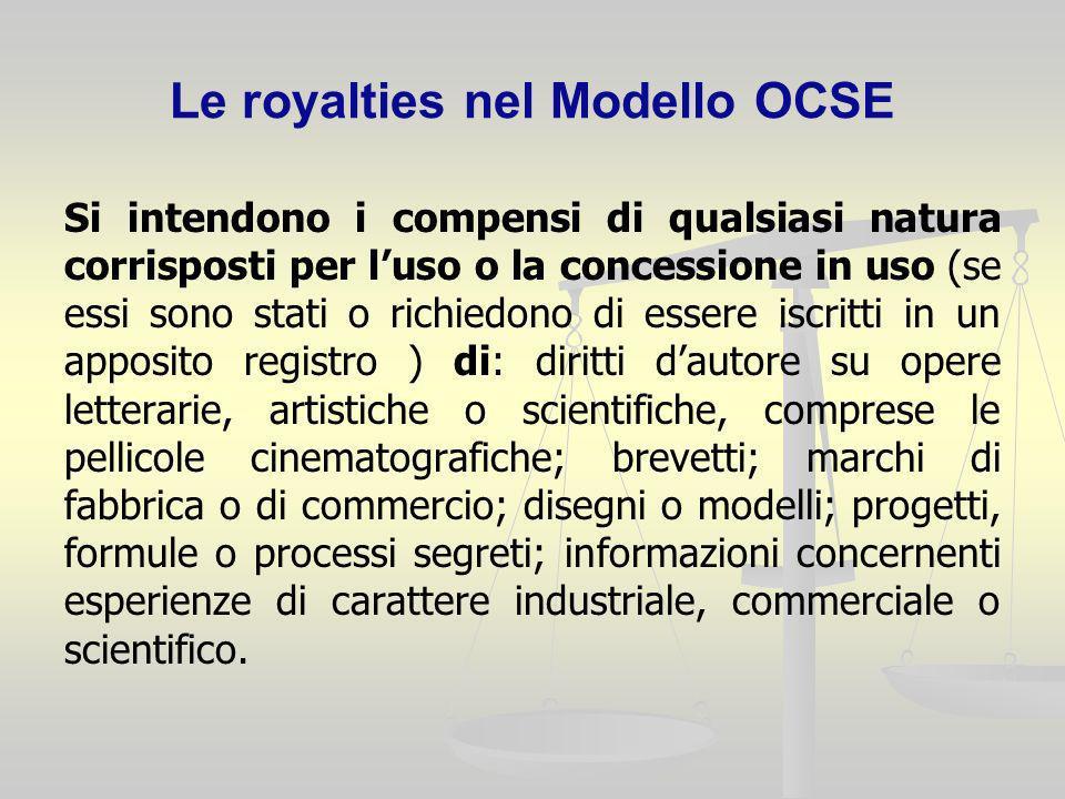 Le royalties nel Modello OCSE