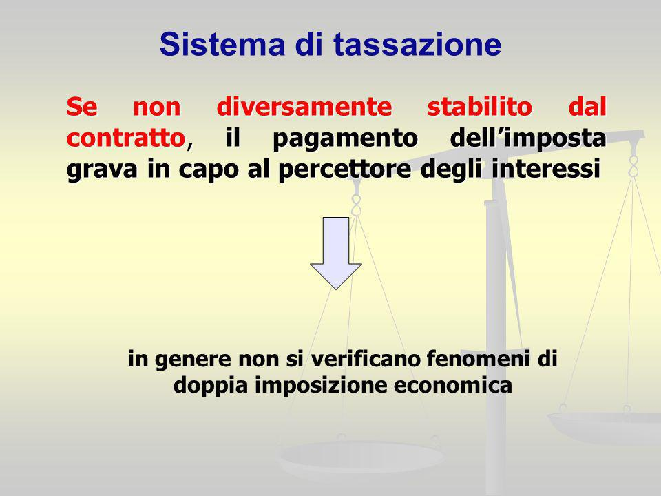 in genere non si verificano fenomeni di doppia imposizione economica