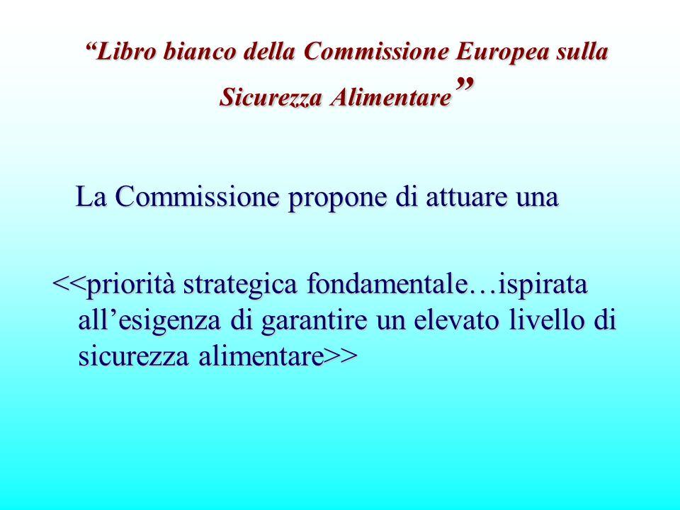 Libro bianco della Commissione Europea sulla Sicurezza Alimentare