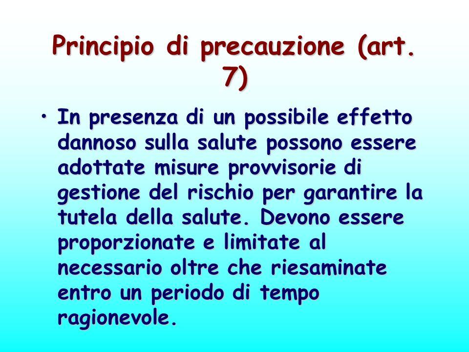 Principio di precauzione (art. 7)