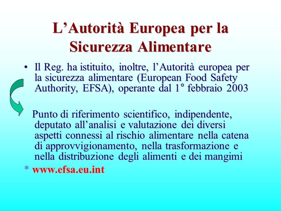 L'Autorità Europea per la Sicurezza Alimentare