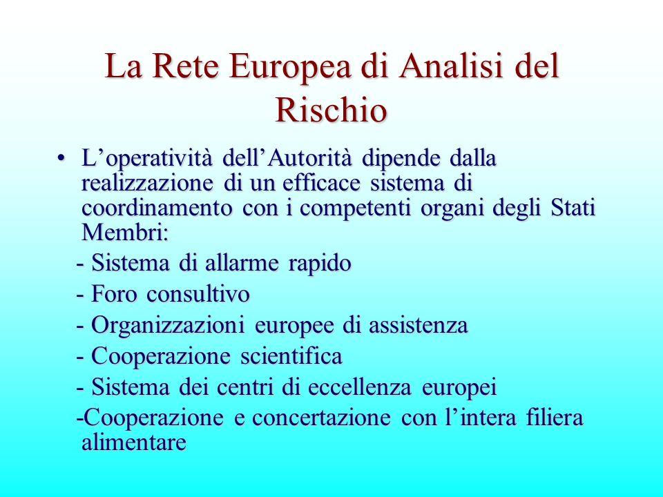 La Rete Europea di Analisi del Rischio