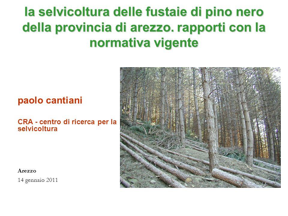 la selvicoltura delle fustaie di pino nero della provincia di arezzo