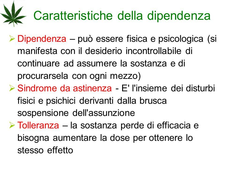 Caratteristiche della dipendenza