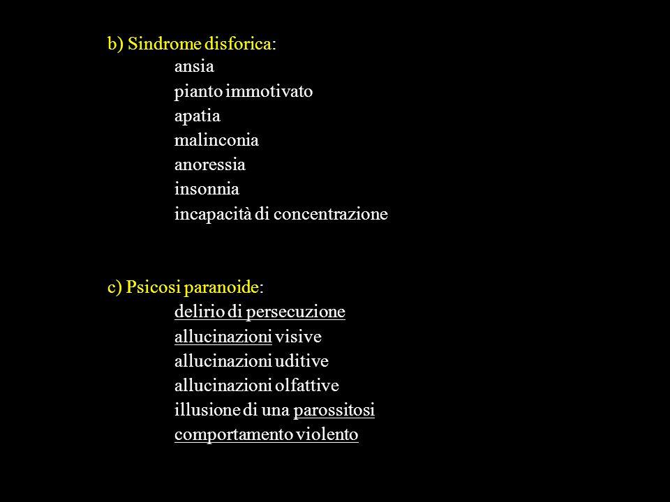 b) Sindrome disforica: