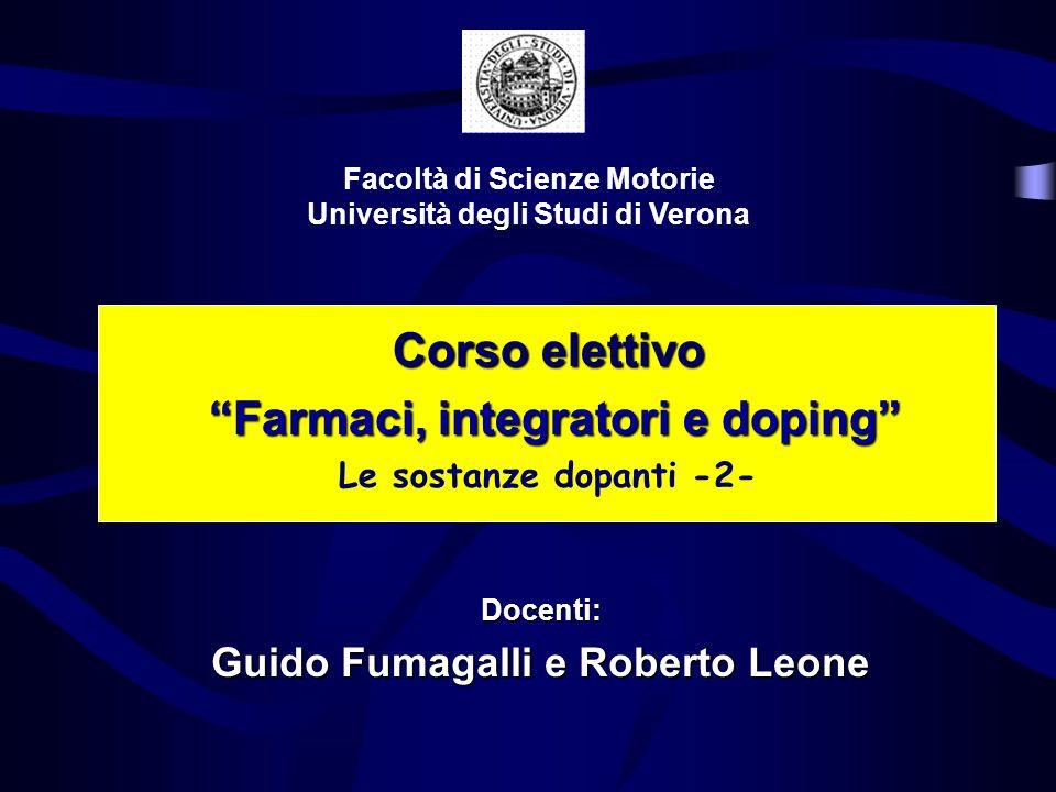 Corso elettivo Farmaci, integratori e doping